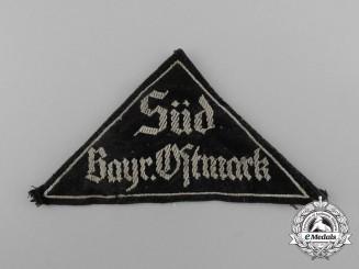 A  HJ/DJ South Bavarian Ostmark District Sleeve Patch