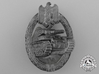 A Silver Grade Tank Badge; Hollow Version
