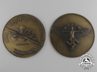 A 1939 Large National Socialist Flying Corps Gliding Competition Table Medal