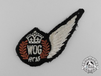 A Second War Royal Canadian Air Force (RCAF) Wireless Operator Ground  Wing