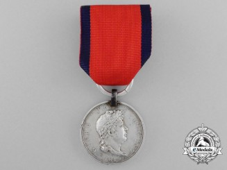 Hanover. A Waterloo Medal to Flag Bearer Schwarze; Landwehr Bataillon Salzgitter