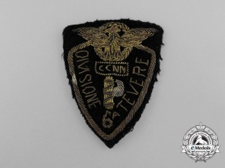 "An Italian 6th Tevere CCNN ""Black Shirts"" Division (6° Divisione Tevere) Sleeve Shield"
