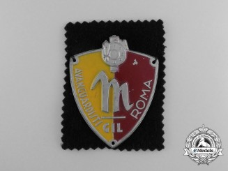 "An Italian GIL (Gioventu Italiana del Littorio) ""Avanguardisti Roma"" (Rome) Fascist Youth Sleeve Shield"