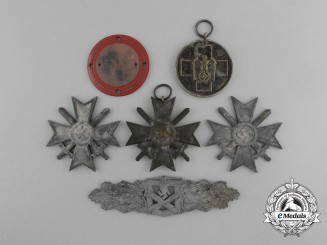 A Lot of Six Awards Recovered from the Bombed Zimmermann Factory