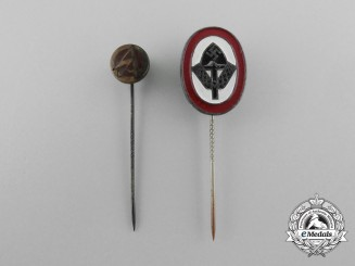A Lot of Two Third Reich Period Stick Pins