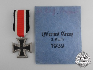An Iron Cross 2nd Class 1939 with Packet by Klein & Quenzer