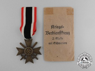 A War Merit Cross 2nd Class with Swords & Packet