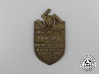 A 1934 Schlüchtern National Socialist Labour Service Inauguration Badge