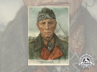 A Picture Postcard Signed by Generalfeldmarschall Erwin Rommel