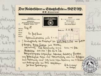 An Early SS Promotion Recommendation Issued by SS-Brigadeführer Paul Hausser