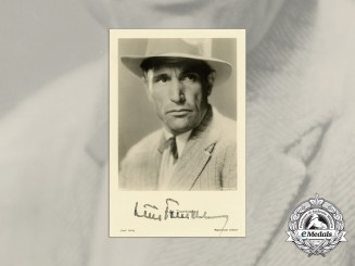 A Wartime Picture Postcard Signed by Actor Director Luis Trenker