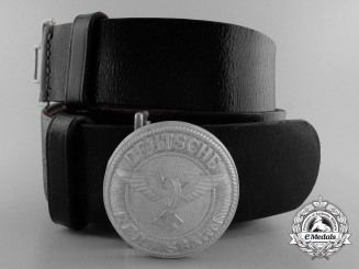 A 1933-1945 Pattern German Railway (Deutsche Reichsbahn) Leader's Belt with Buckle
