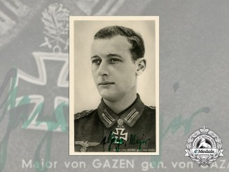 A Wartime Picture Postcard Signed by Major Waldemar von Gaze