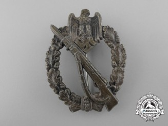 An Infantry Assault Badge; Silver Grade by Josef Feix Söhne