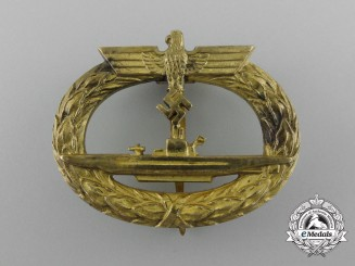 A Kriegsmarine Submarine Badge by Georg Schwerin