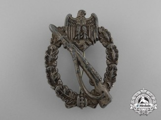 An Early Plated Type Infantry Assault Badge; Unmarked