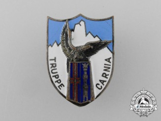A Second War Carnia Troops Command (Truppe Carnia) Badge