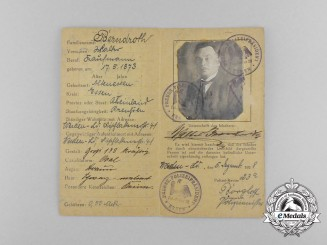 A Second War German ID & Saxon Refugee Card
