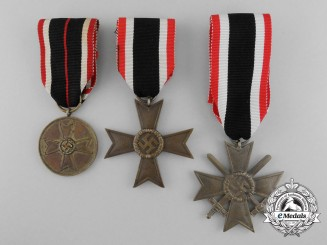 Germany, Wehrmacht. A Lot of Three War Merit Medals and Crosses