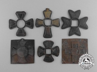 A Lot of Six Medal Parts Recovered from the Zimmermann Factory
