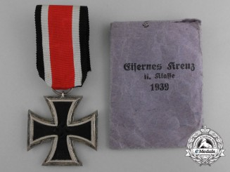 An Iron Cross 1939 Second Class by Schenkl with Original Packet of Issue