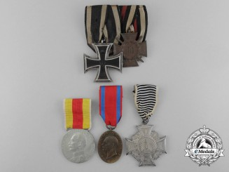 Five First War German Imperial Medals and Awards