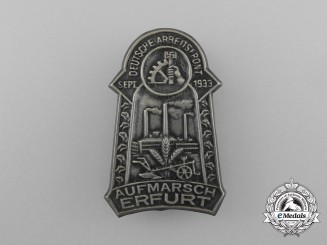 A 1933 Erfurt German Labour Front Rally Badge