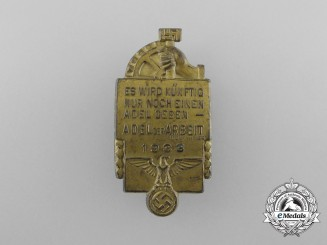 """A 1933 NSBO """"Nobility of Labour"""" Badge"""