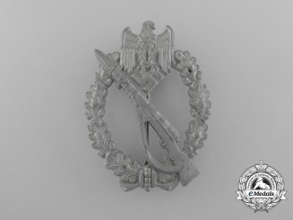 An Early Hollow-Version Infantry Assault Badge; Silver Grade