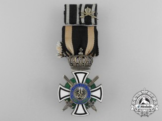 A Prussian House Order of Hohenzollern; Inhaber Cross with Swords