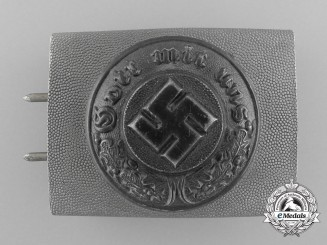 A 1936-1945 German Police Enlisted Man's Belt Buckle