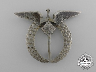 An Second World War Period Czech-Made Pilot Badge