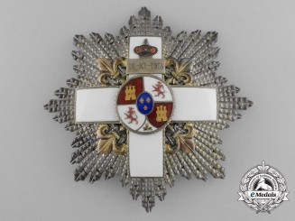 A Spanish Order of Military Merit, 3rd Class Breast Star with White Distinction, 1889-1926