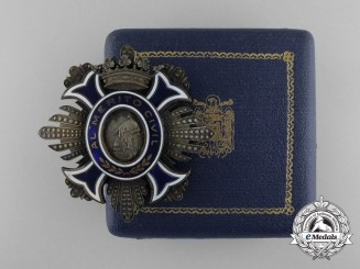 A Spanish Order of Civil Merit Breast Star Ladies' Version with Case