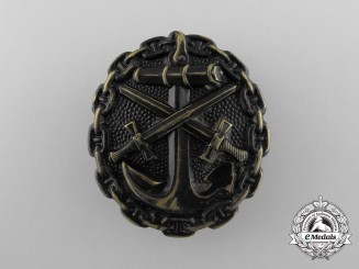 An Imperial German Navy (Kaiserliche Marine) Wound Badge; Black Grade