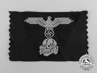 Germany, SS. A Waffen-SS Panzer Overseas Cap Trapezoid Insignia