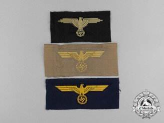 Three Third Riech Period Embroidered Insignias