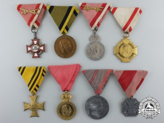 A Lot of Eight First War Period Austrian Medals & Awards