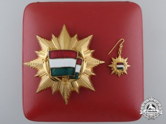 A Hungarian Order of the Flag of the People's Republic; 3rd Class with Miniature