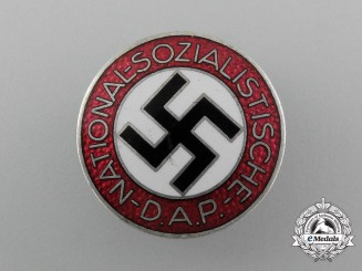 A Mint NSDAP Party Member Lapel Badge by Frank & Reif