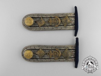 An Imperial German Navy (Kaiserliche Marine) Kapitanleutnant Stabsingenieure Shoulder Board Pair