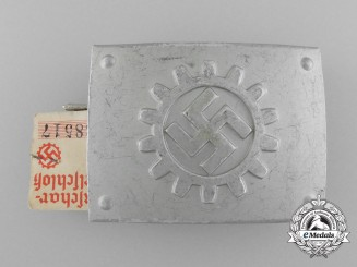 A Stosstrupp of the Werkschar Deutsche Arbeitsfront Enlisted Man's Belt Buckle