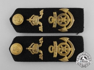 An Imperial German Navy (Kaiserliche Marine) Obermaschinistenmaat Shoulder Board Pair