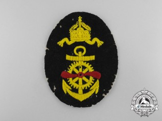 Germany, Imperial. A Navy (Kaiserliche Marine) Aviation Mechanic Patch