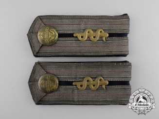 An Imperial German Navy (Kaiserliche Marine) Medical Officer Shoulder Board Pair