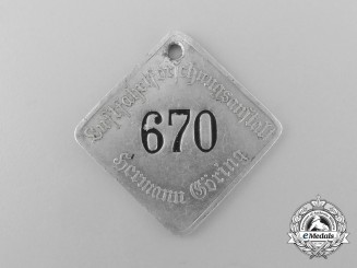 An Extremely Scarce Employee Tag of the Top Secret German Aeronautical Research Institute