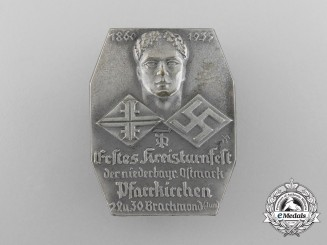 A 1935 1st Regional Gymnastics Festival of the Lower Bavarian Ostmark Badge