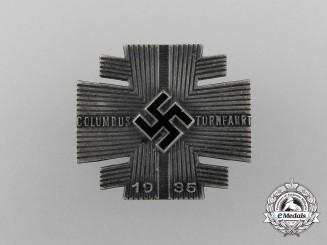 A Fine Quality 1935 Columbus Gymnastics Tour Badge