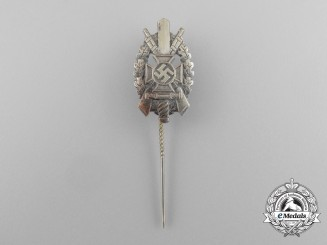 A National Socialist War Victim's Care (NSKOV) Marksmanship Badge Stick Pin