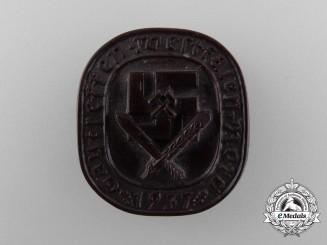 A 1937 Westfalen North District Meeting Badge